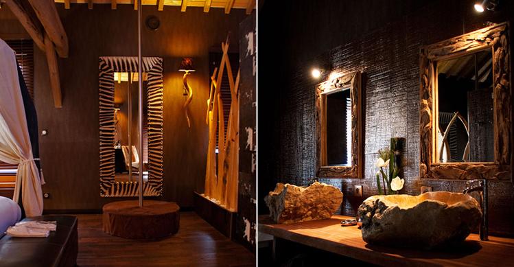 La lodge chambre avec jacuzzi - Decoration chambre style afrique ...