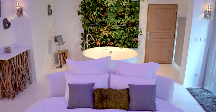 La nature chambre avec jacuzzi for Chambre nature