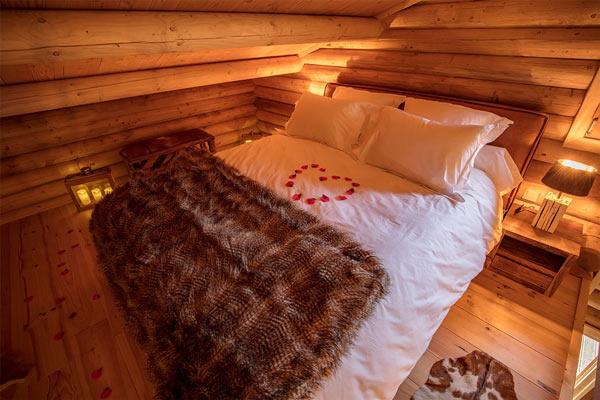 chambre avec jacuzzi dans la for t le sanglier amoureux. Black Bedroom Furniture Sets. Home Design Ideas